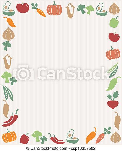 Vegetables frame - csp10357582