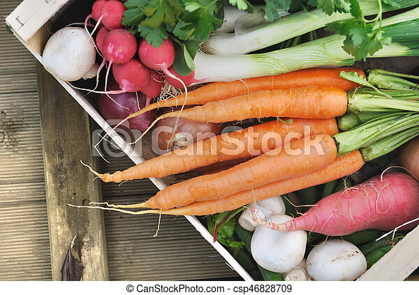 vegetables in a crate - csp46828709