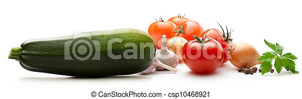 Vegetables on the white background - csp10468921