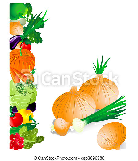 Vegetables onion - csp3696386
