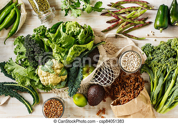 vegetables., orgánico, reutilizable, bolsas, eco, compras - csp84051383
