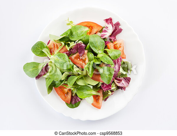 vegetables salad on a plate closeup - csp9568853