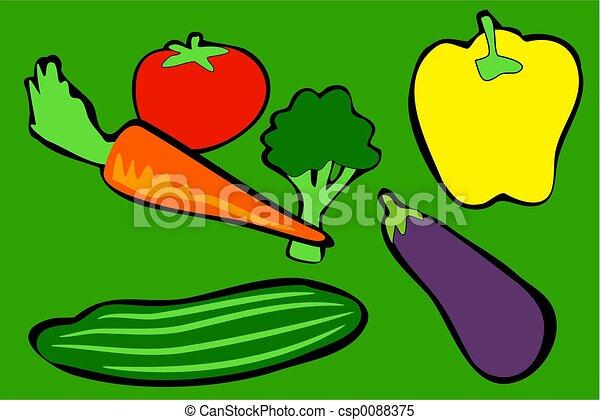 Vegetables Vegetables In Simple Drawing Style