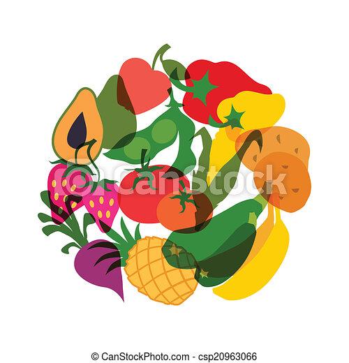 clipart cibo vegetables vegetariano cibo stilizzato disegno