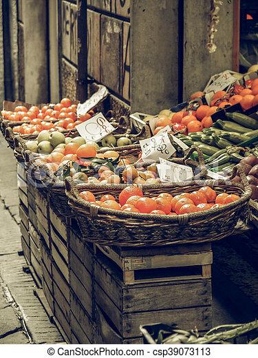Vegetables vintage desaturated - csp39073113