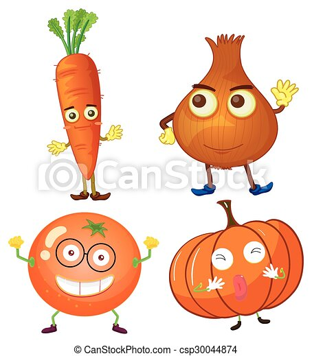 Vegetables with happy face - csp30044874