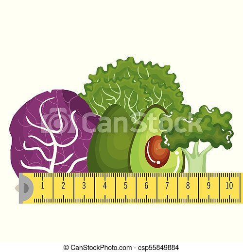 vegetables with tape measure - csp55849884