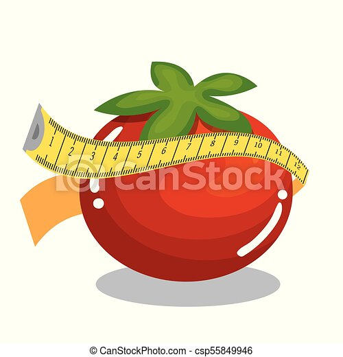vegetables with tape measure - csp55849946