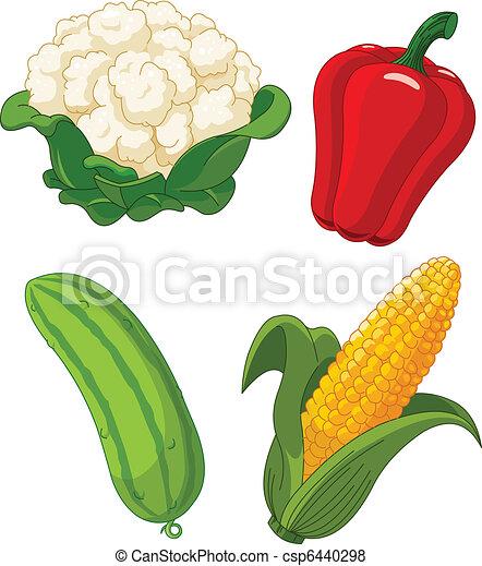 Un juego de vegetales 2 - csp6440298