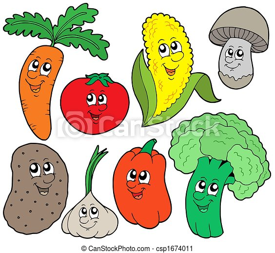 vegetal, 1, caricatura, colección - csp1674011