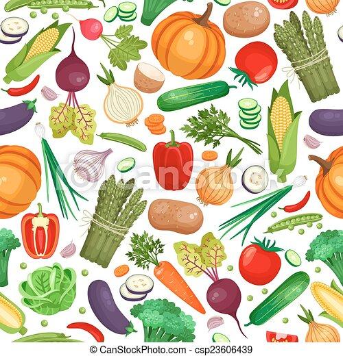 Comida orgánica vegetal sin fondo - csp23606439