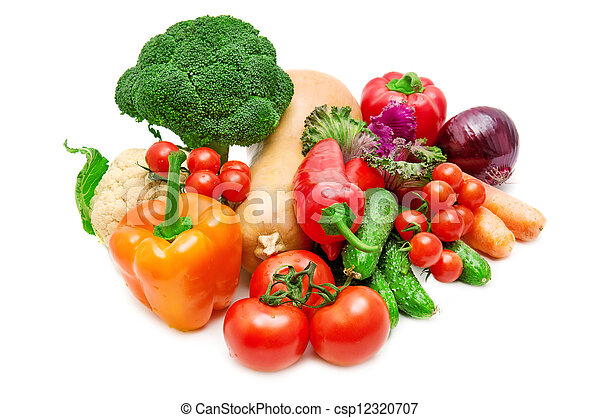 vegetal, blanco, aislado, plano de fondo - csp12320707