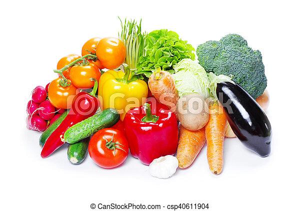 vegetal, blanco, aislado, plano de fondo - csp40611904