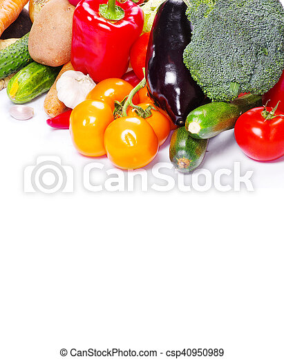 vegetal, blanco, aislado, plano de fondo - csp40950989