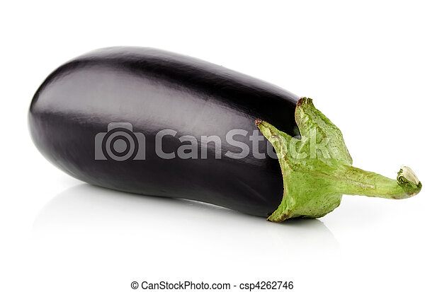 Fruta vegetal de berenjena aislada en blanco - csp4262746