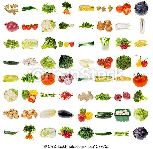 Gran colección de verduras - csp1579755