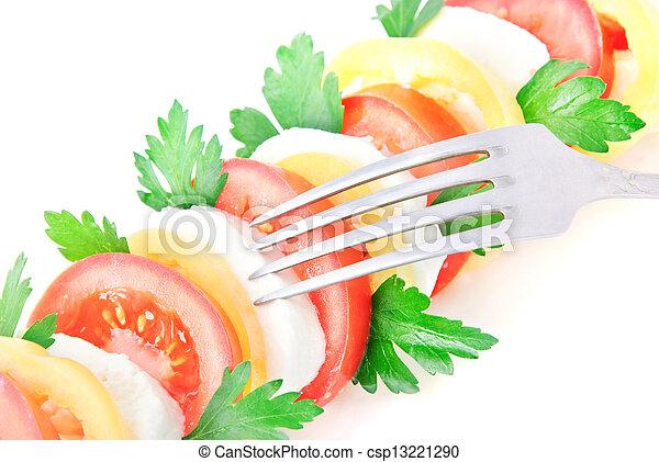 vegetal, fresco, salada, queijo - csp13221290