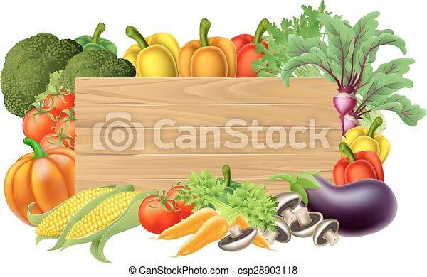 Señal fresca de vegetales - csp28903118