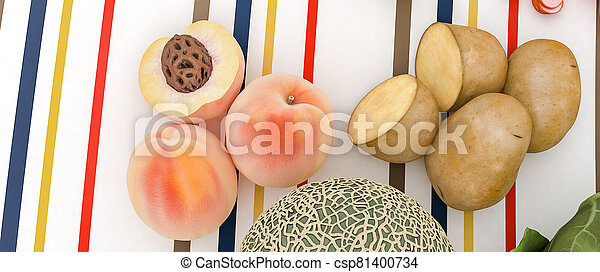 vegetal, fruta - csp81400734
