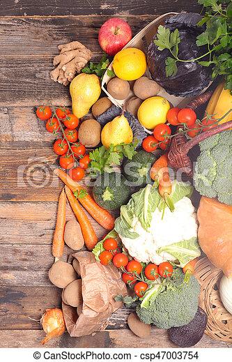 Fruta y verduras - csp47003754