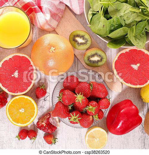 Fruta y verduras - csp38263520