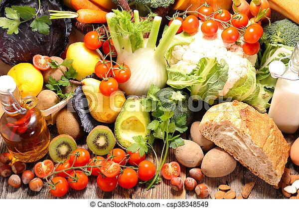 Fruta y verduras - csp38348549