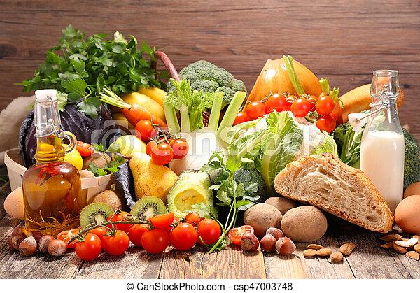 Fruta y verduras - csp47003748