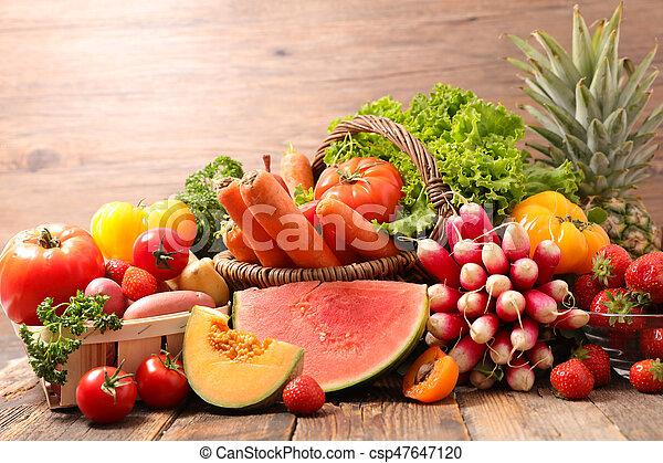 Fruta y verduras - csp47647120