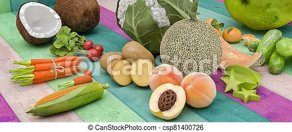 vegetal, fruta - csp81400726