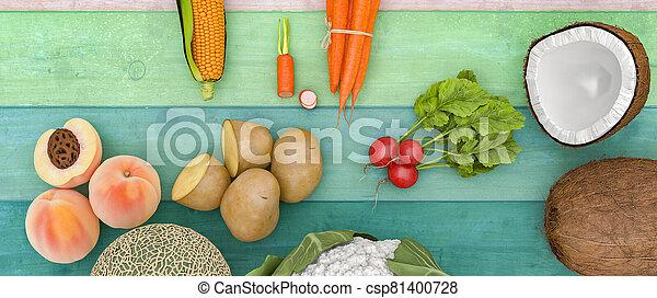 vegetal, fruta - csp81400728