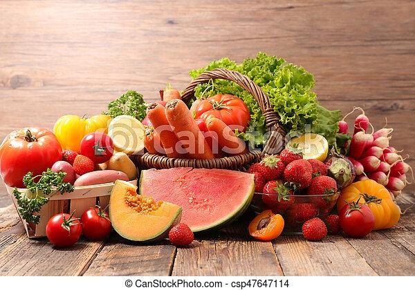 Fruta y verduras - csp47647114
