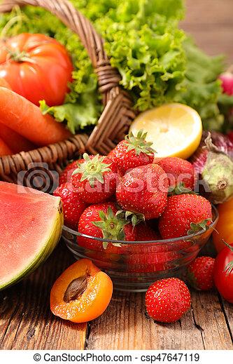 Fruta y verduras - csp47647119