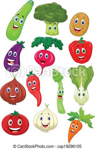 vegetal, lindo, carácter, caricatura - csp19296105