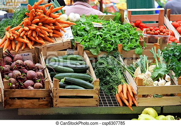 vegetal, mercado - csp6307785