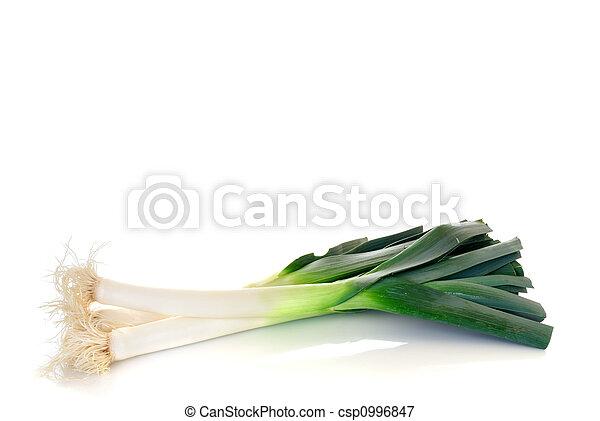 vegetal, puerro - csp0996847