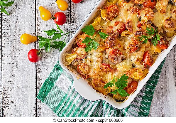 vegetal, vegetariano, casserole - csp31068666