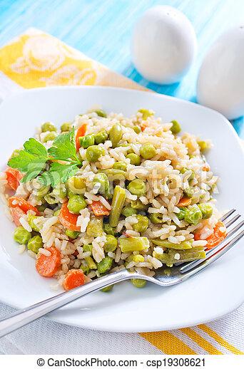 vegetales, arroz - csp19308621