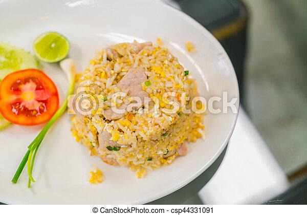 vegetales, arroz, frito - csp44331091