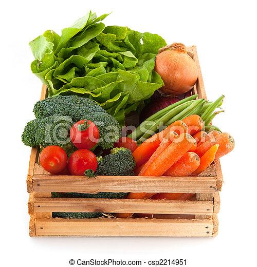Crate con verduras - csp2214951