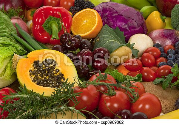 Verduras y frutas - csp0969862