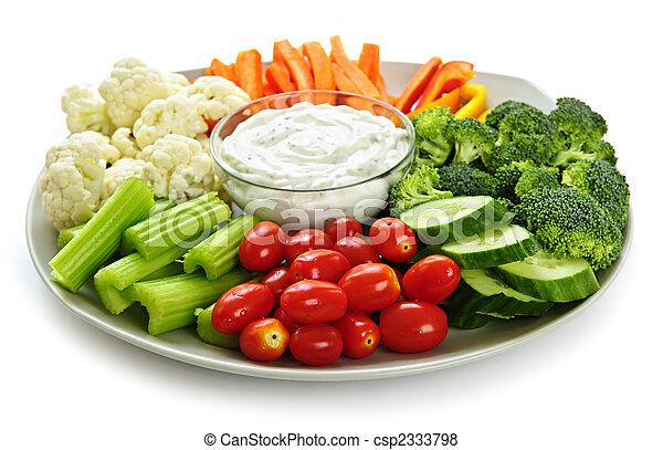 Verduras y salsa - csp2333798