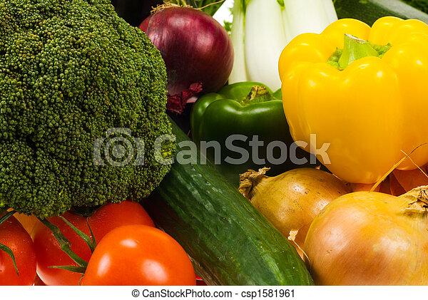 vegetales, plano de fondo - csp1581961