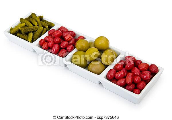 Selección de verduras en vinagre - csp7375646