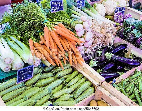 Selección de verduras - csp25645692