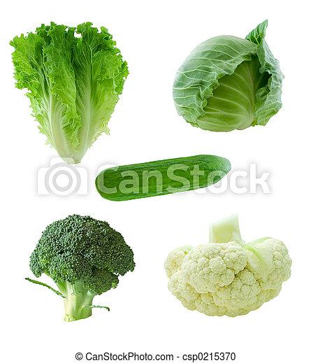 Verduras verdes - csp0215370