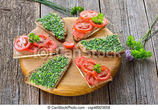 Vegetarian snack - csp48923658