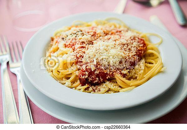 vegetarian spaghetti - csp22660364