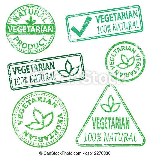 Vegetarian Stamps - csp12276330