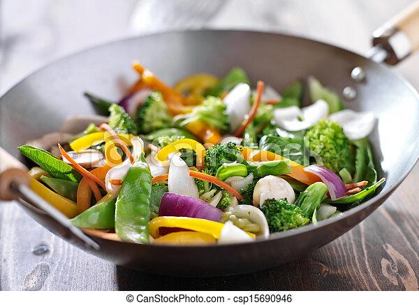 vegetarian wok stir fry - csp15690946
