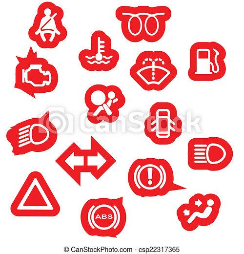 Vehicle Dash Warning Symbols A Collection Of Automobile Clip - Car image sign of dashboarddashboard warning lights stock images royaltyfree images